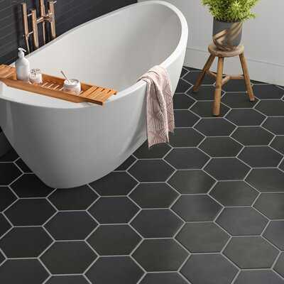"Langston Hexagon 10"" x 10"" Porcelain Field Tile - AllModern"