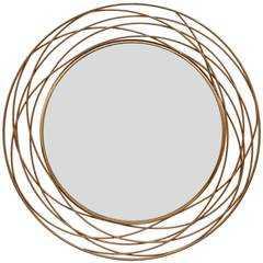 Swirl Mirror, Gold - High Fashion Home