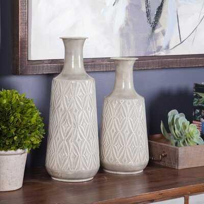 Mingenew Damask 2 Piece Floor Vase Set - Wayfair