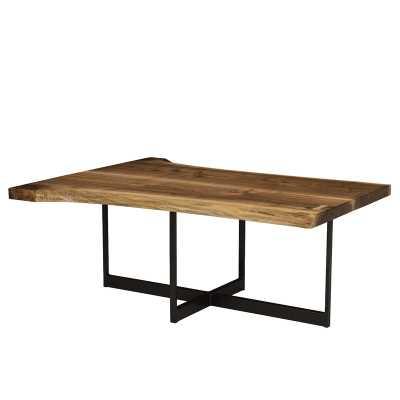 MacKenzie-Dow Live Edge Coffee Table Table Top Color: Wheatland - Perigold