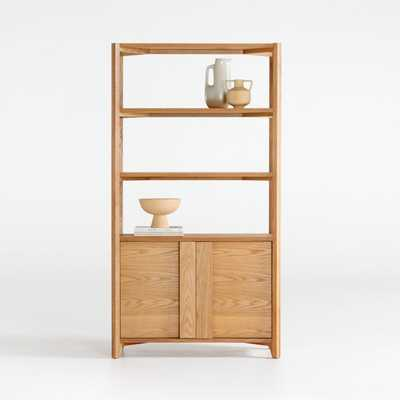 Vertex Closed Bookcase - Crate and Barrel