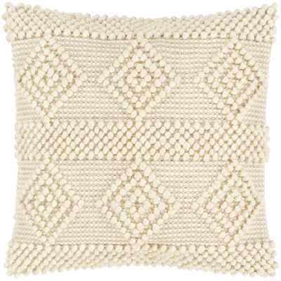 Global 0.2'' Throw Pillow Cover Color: Ivory/White - Perigold