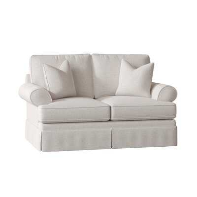 "Negly 68"" Flared Arm Loveseat Ivory - Wayfair"