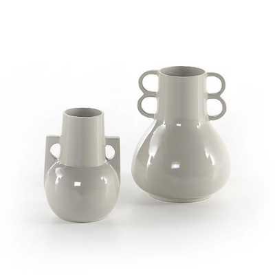 Primerose Vases, Light Gray - West Elm