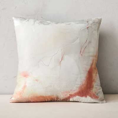 """Airy Brocade Pillow Cover, 20""""x20"""", Copper - West Elm"""