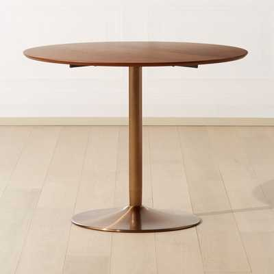 Odyssey Brass/Wood Dining Table - CB2