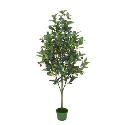 48'' Artificial Olive Tree in Pot Liner - Wayfair
