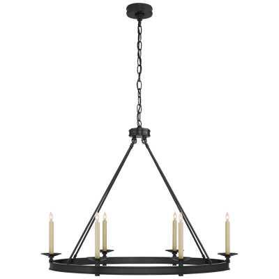 Visual Comfort E. F. Chapman 6 - Light Candle Style Wagon Wheel Chandelier Finish: Bronze - Perigold