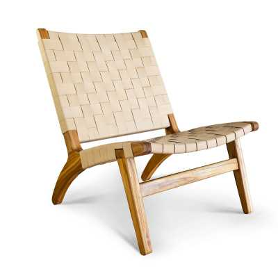 "Masaya & Co 24"" W  Lounge Chair Color: Off White - Perigold"