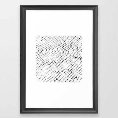 Reflection #abstract Framed Art Print by 83 Orangesa(r) Art Shop - Scoop Black - SMALL-15x21 - Society6