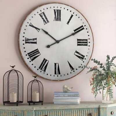 "Oversized Florez 39.75"" Wall Clock - Wayfair"