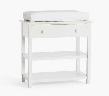 Kendall Changing Table with Drawer, Simply White, In-Home Delivery - Pottery Barn Kids
