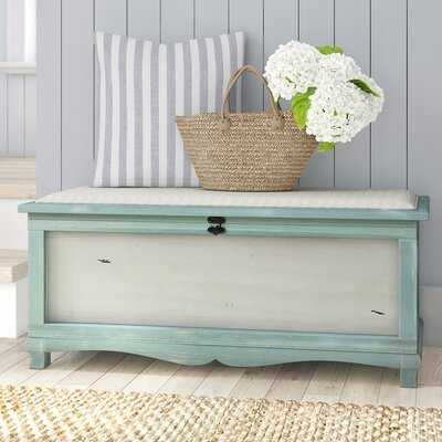 Abril Wood Storage Bench - Wayfair
