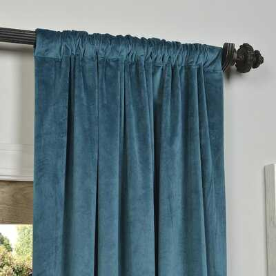 Anrey Velvet Solid Blackout Thermal Rod Pocket Single Curtain Panel - Birch Lane
