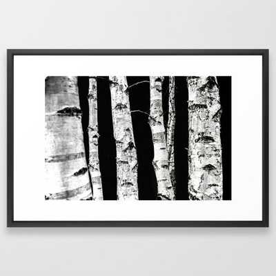 Birch Trees Framed Art Print by Mareike BaPhmer - Vector Black - LARGE (Gallery)-26x38 - Society6