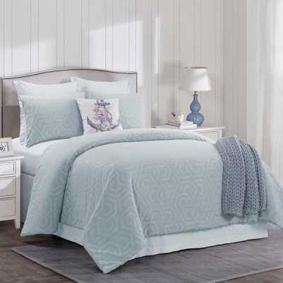 DONNA SHARP Seville 3-Piece Blue Cotton King Comforter Set - Home Depot