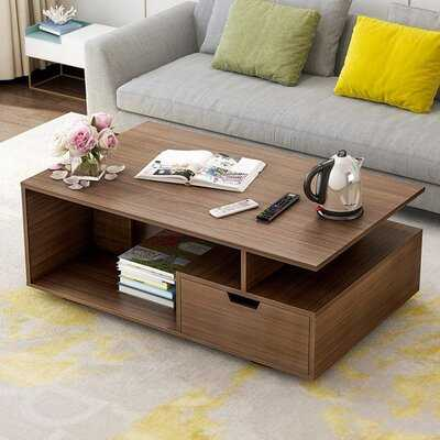 Aneya Floor Shelf Coffee Table with Storage - Wayfair