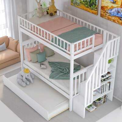 Polebridge Twin over Twin Bunk Bed with Trundle - Wayfair