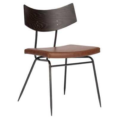 Kamilyn Dining Chair, Caramel and Seared Oak - Lulu and Georgia