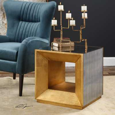 Flair Gold Cube Table - Hudsonhill Foundry