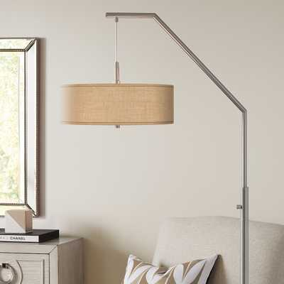 Woven Burlap Arc Floor Lamp - Style # 81C97 - Lamps Plus