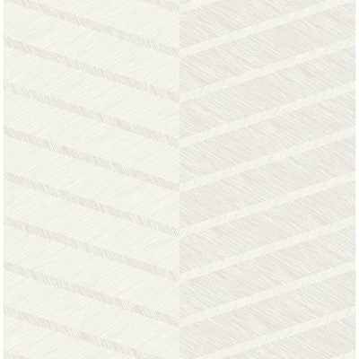 Brewster Wallcovering Aspen White Chevron Wallpaper Sample - Home Depot