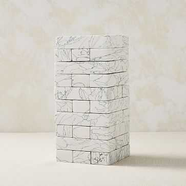 Engineered Stone Stacking Game, White + Gray, Set of 3 - West Elm