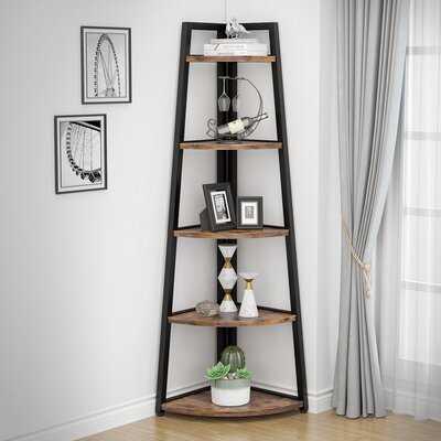 "Geraurd 70.07"" H x 25.95"" W Iron Corner Bookcase - Wayfair"
