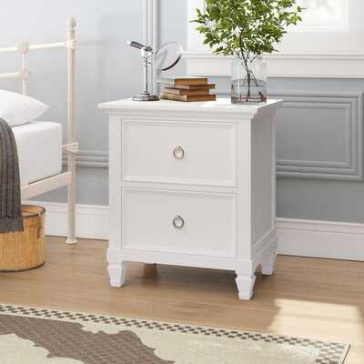 Westhampton 2 - Drawer Solid Wood Nightstand - Wayfair