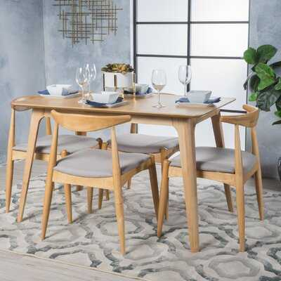 Millie 5 Piece Mid Century Wood Dining Set - AllModern