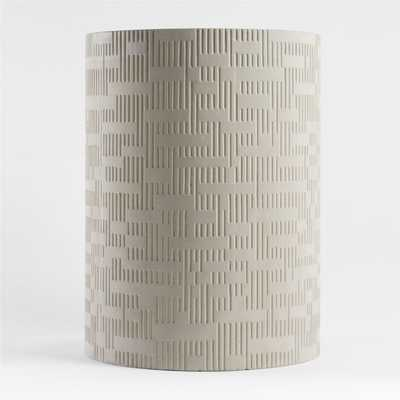 Argo Large Grey Planter - Crate and Barrel