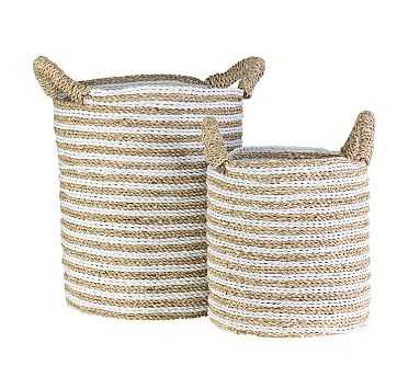 Celia Woven Baskets, Set of 2 - Natural - Pottery Barn
