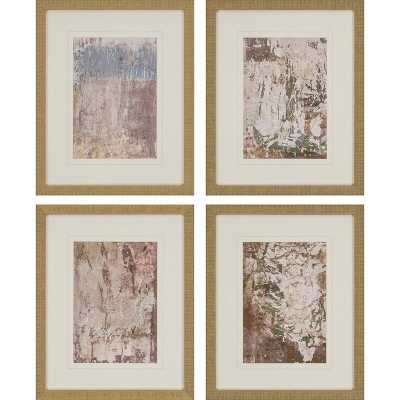 Paragon 'Vestige III' by Inspire Studio 4 Piece Framed Painting Print Set - Perigold
