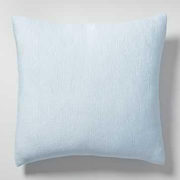 TENCEL(TM) Cotton Matelasse Euro Sham, Glass Blue - West Elm