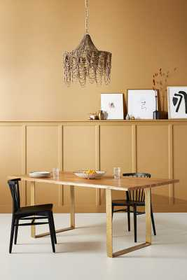 Smoked Oak Dining Table - Anthropologie