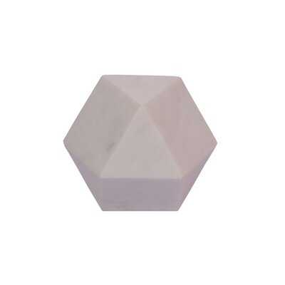 Union City Marble Decorative Tetradecagon Whine Sculpture - AllModern
