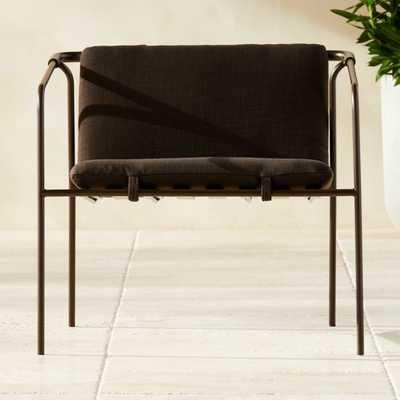 Navene Bronze Lounge Chair - CB2