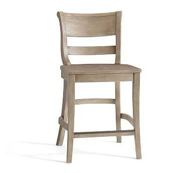 Bradford Counter Stool, Gray Wash - Pottery Barn
