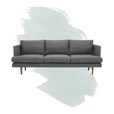 "84"" Recessed Arm Sofa, Venga Dark Gray - Wayfair"