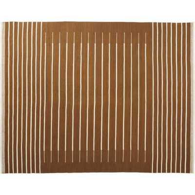 Copper with White Stripe Rug 8'x10' - CB2