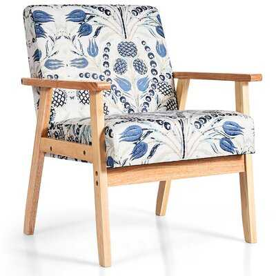 "Mashantucket 25"" W Linen Armchair - Wayfair"