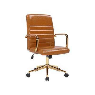 Encore Faux Leather Office Task Chair - Wayfair