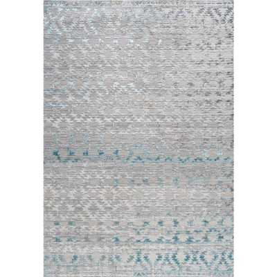 JONATHAN Y Ancient Faded Trellis Gray/Turquoise 8 ft. x 10 ft. Area Rug - Home Depot