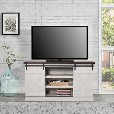 TV Cabinet With Sliding Barn Door For Living Room, TV Stand For Multi Size TV, Rustic Entertainment Center Console With Storage, Adjustable Shelf - Wayfair