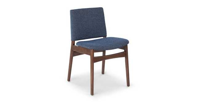 Nosh Denim Blue Walnut Dining Chair (pair) - Article