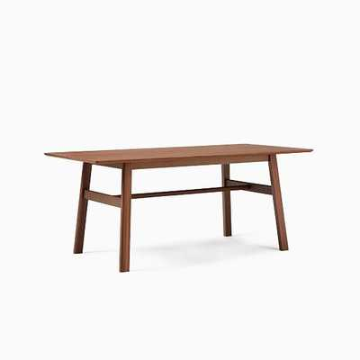 Jodie Rectangle Dining Table, Walnut, Walnut - West Elm