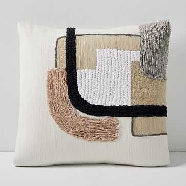 """Line Study Pillow Cover, 18""""x18"""", Stone White - West Elm"""
