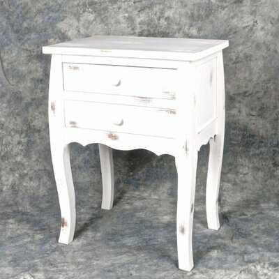 Carrero Wooden 2 Drawer Night Stand - Wayfair