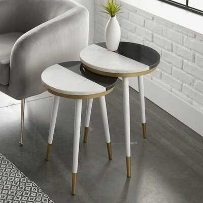 Vallejo Marble Top 3 Legs Nesting Tables - Wayfair