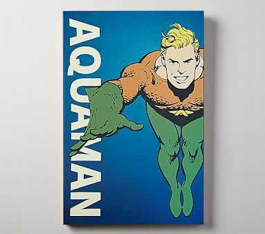 DC Comics Glow In The Dark Art, Aquaman - Pottery Barn Kids